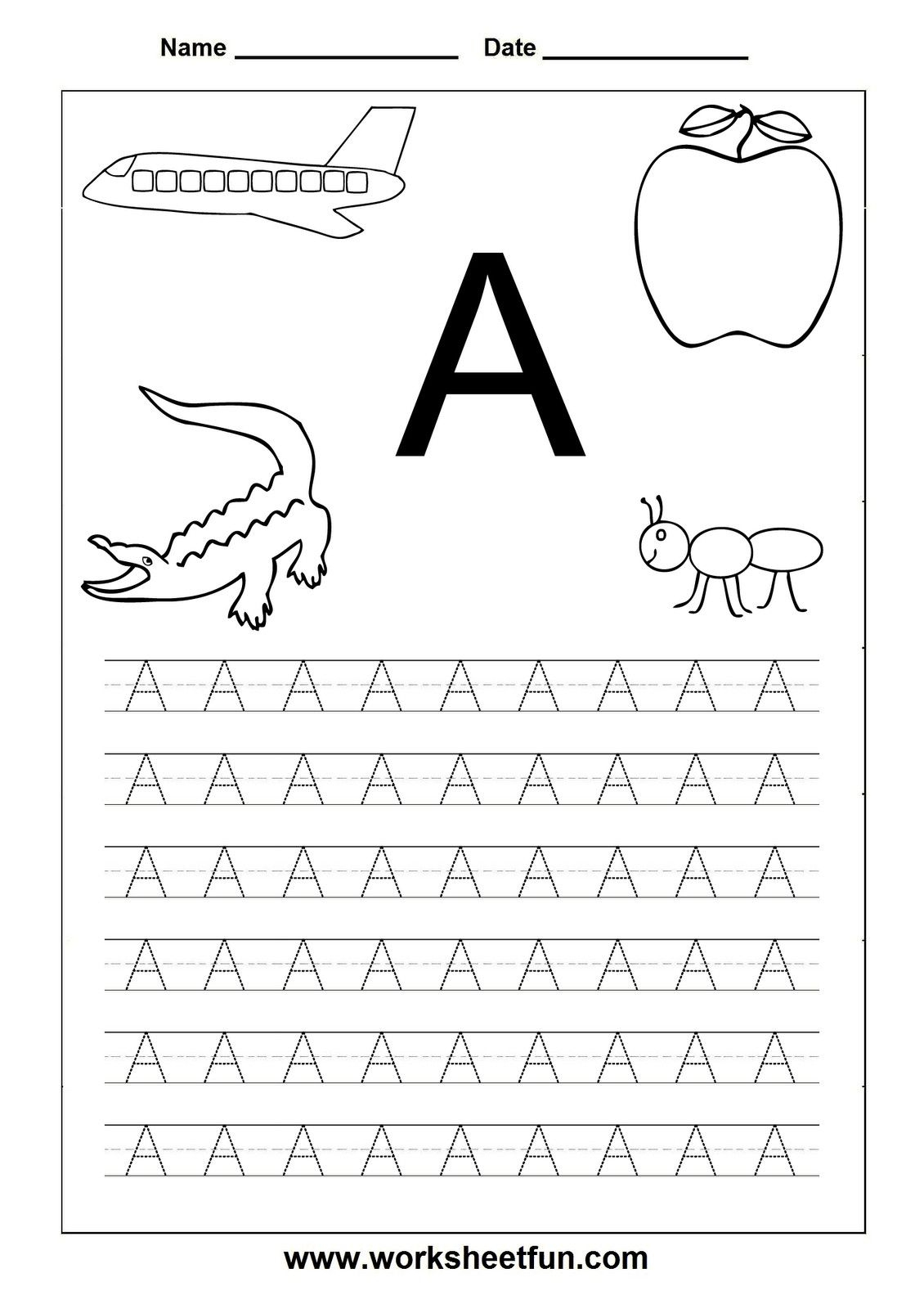 Free Printable Alphabet Tracers |  Printable Page Tags Printable - Free Printable Letter Worksheets
