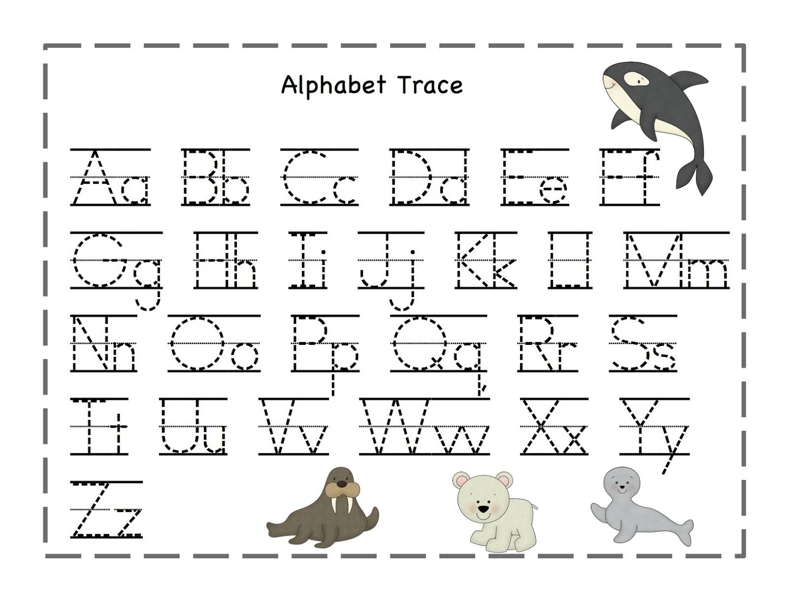 Free Printable Alphabet Tracing Worksheets Number For Kindergarten - Free Printable Alphabet Pages