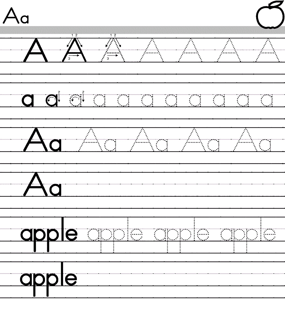 Free Printable Alphabet Worksheets Kindergarten For All - Free Printable Alphabet Worksheets For Kindergarten