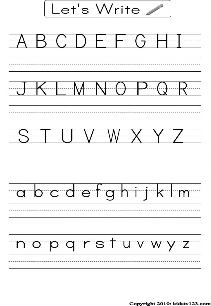 Free Printable Alphabet Worksheets For Kindergarten