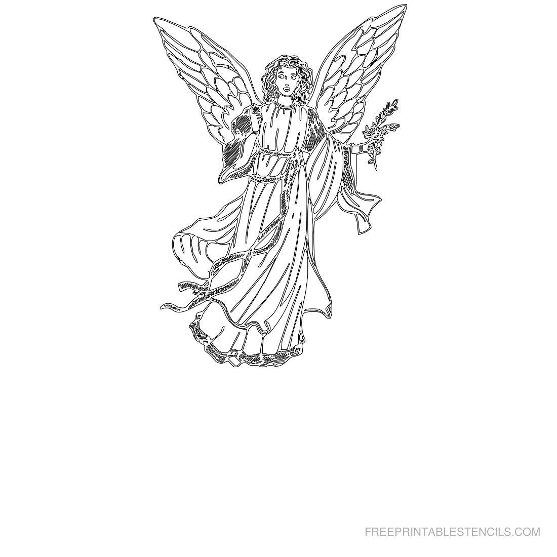 Free Printable Angel Stencils | Free Printable Stencils - Free Printable Angels