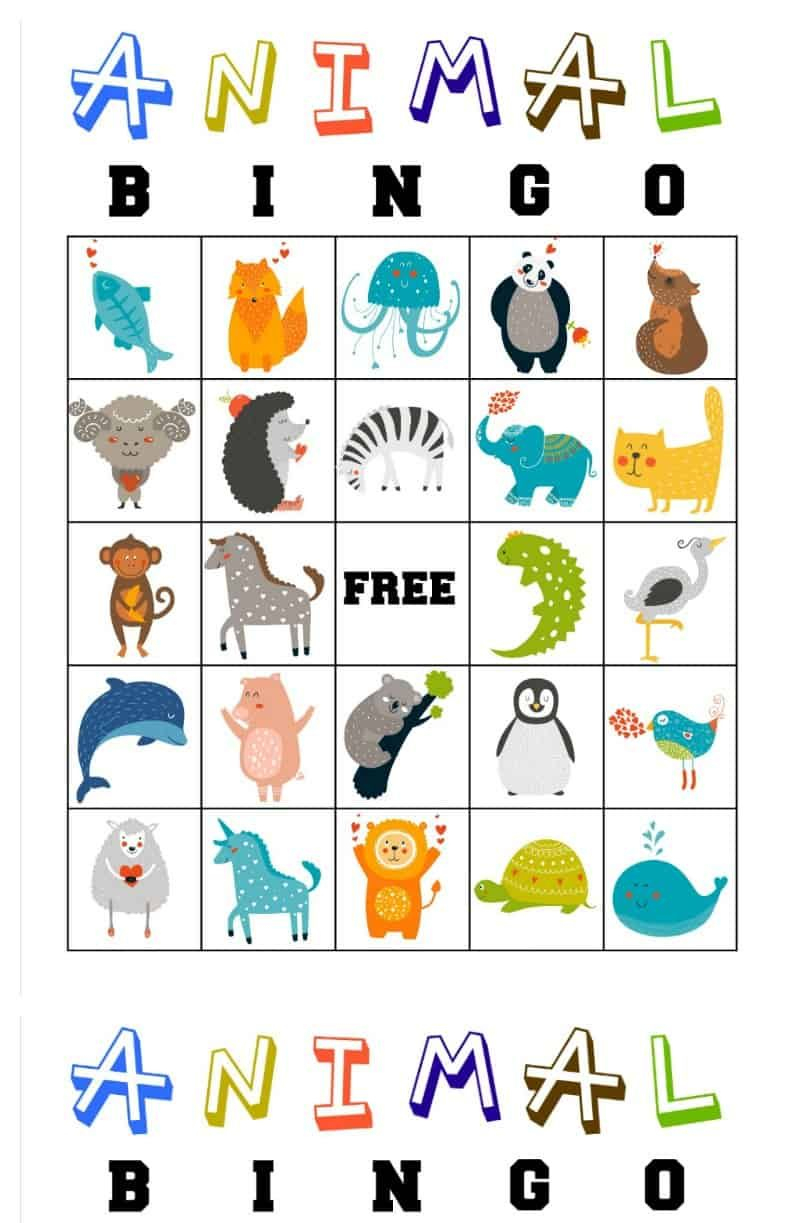 Free Printable Animal Bingo Cards For Toddlers And Preschoolers   T - Free Printable Animal Classification Cards