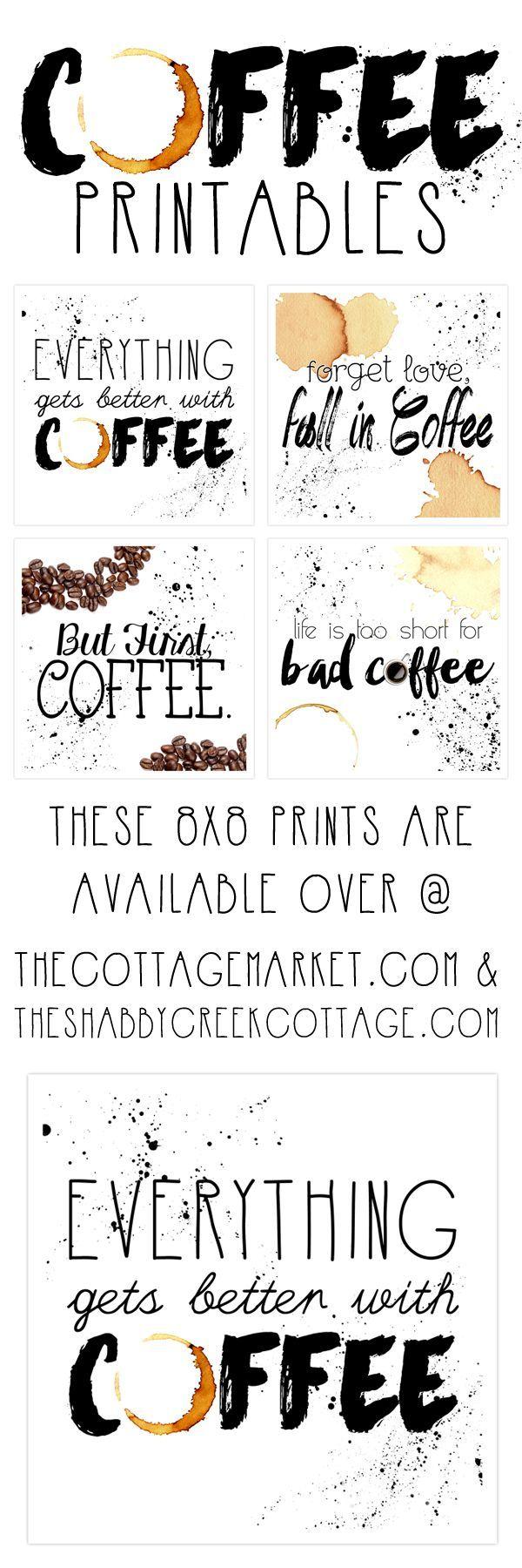 Free Printable Art: The Coffee Collection | Fabulous Diy Home Decor - Free Printable Coffee Bar Signs