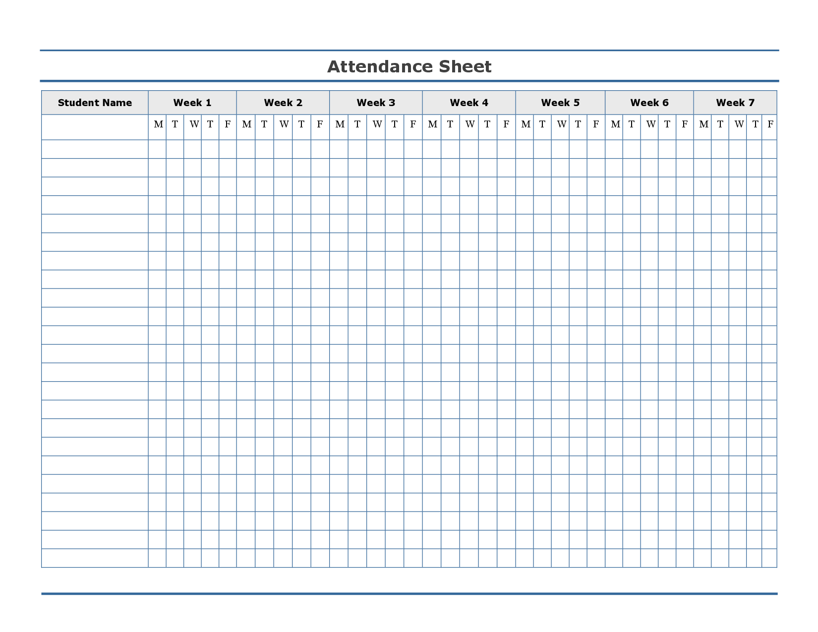 Free Printable Attendance Sheet Template … | Education | Attendance - Free Printable Charts For Teachers