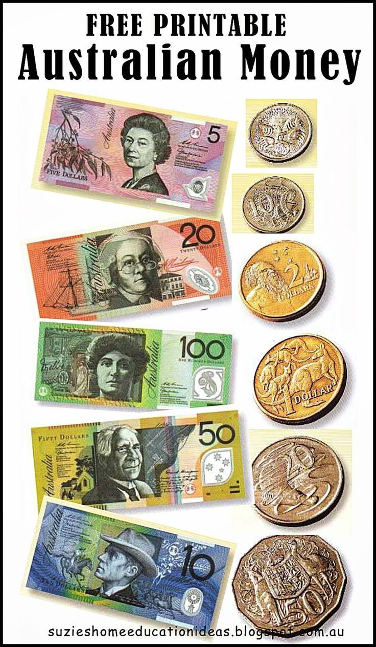 Free Printable Australian Money (Notes & Coins) - Would Be Great For - Free Printable Money Worksheets Australia