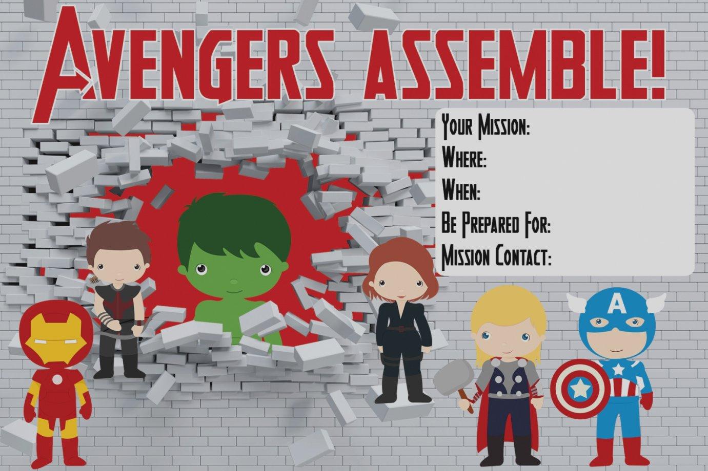 Free Printable Avengers Invitations - Free Printable Avengers Birthday Party Invitations