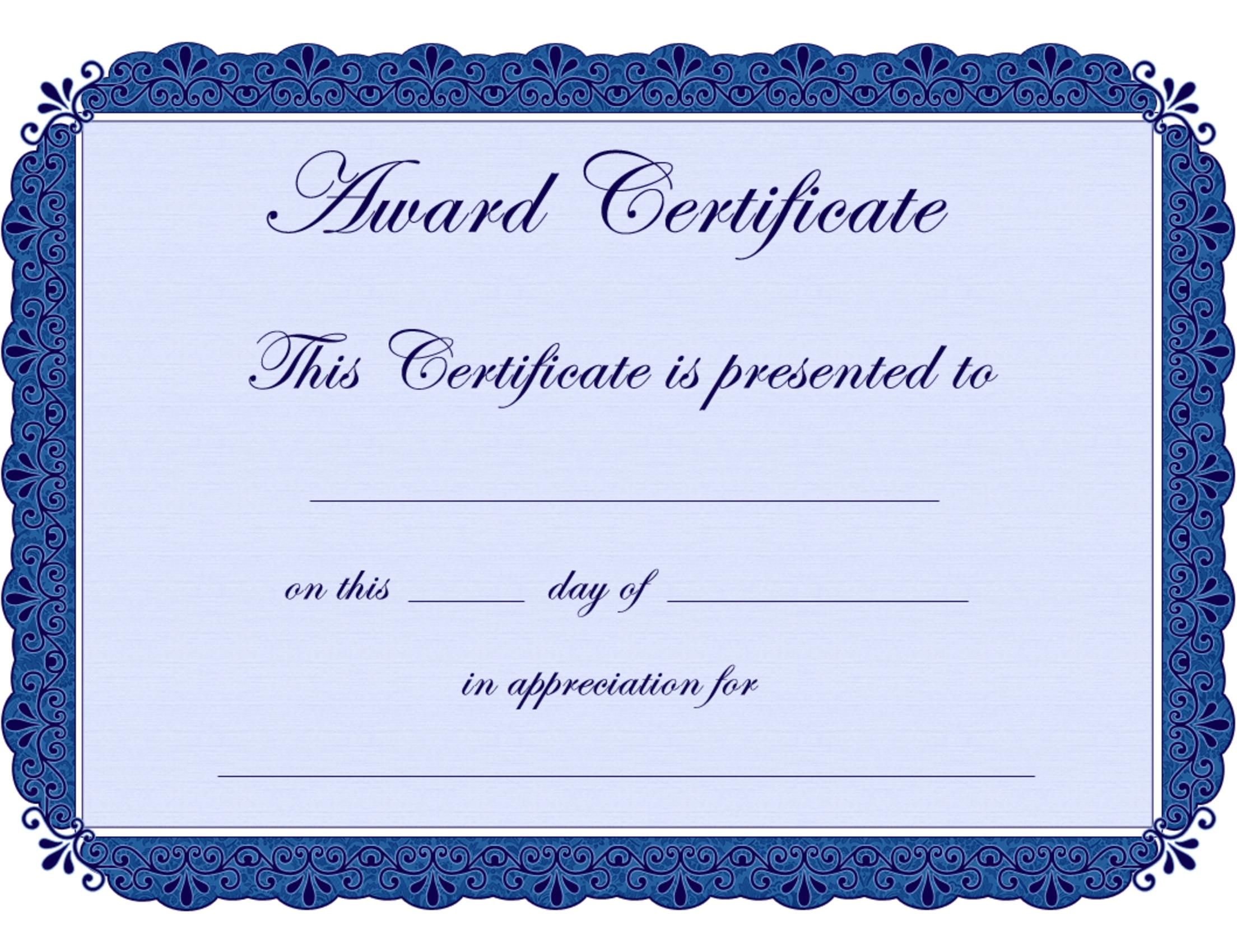 Free Printable Award Certificate Borders |  Award Certificate - Free Printable Certificates For Teachers