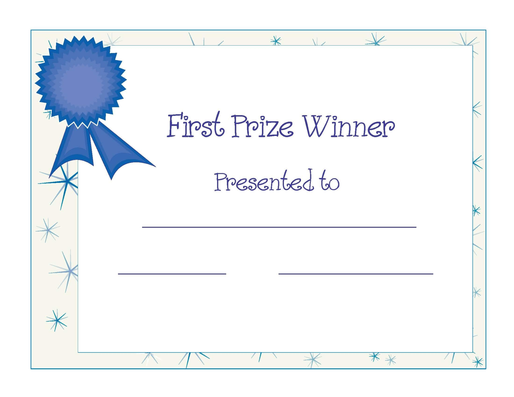 Free Printable Award Certificate Template | Free Printable First - Free Printable First Day Of School Certificate