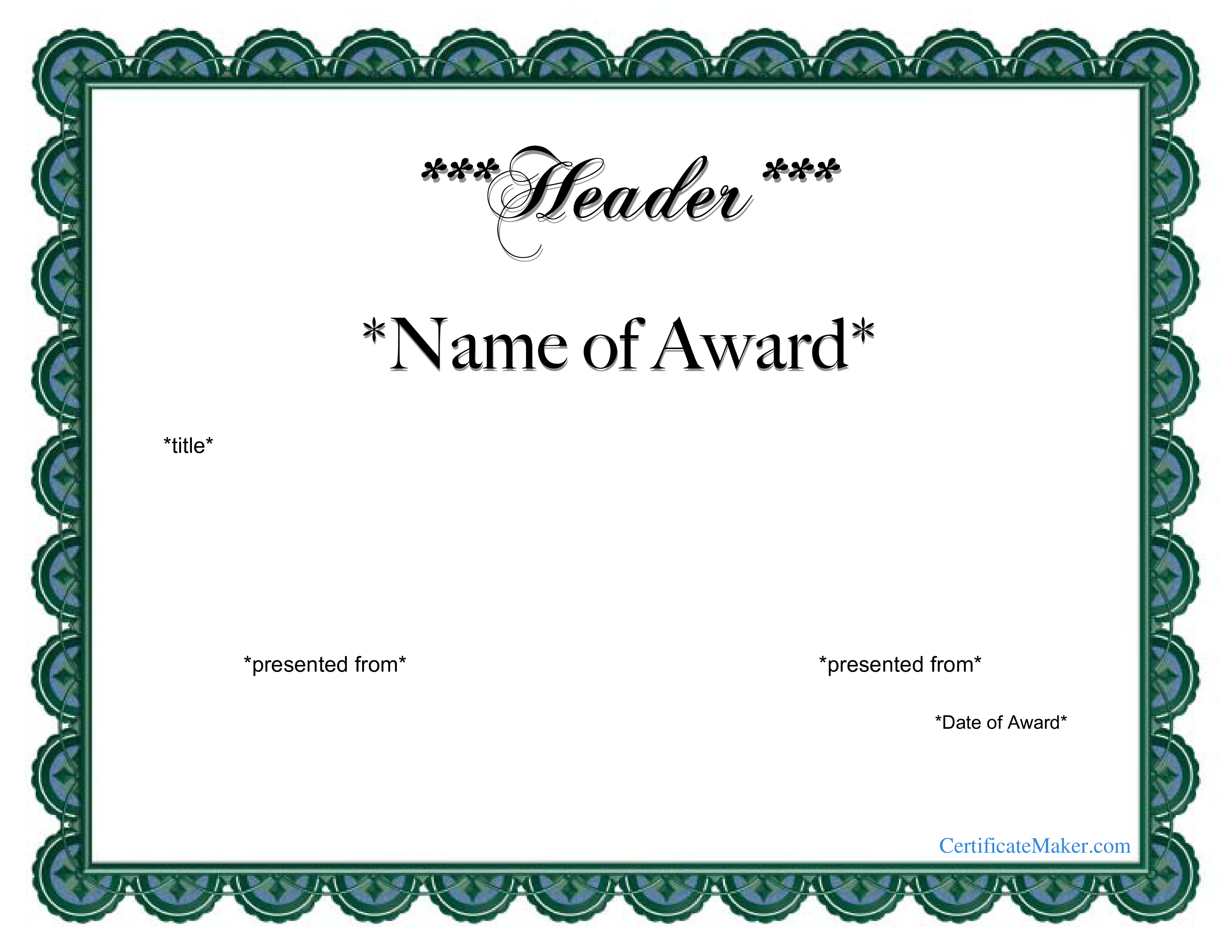 Free Printable Award Certificates Certificate Templates At - Free Printable Award Certificates For Elementary Students