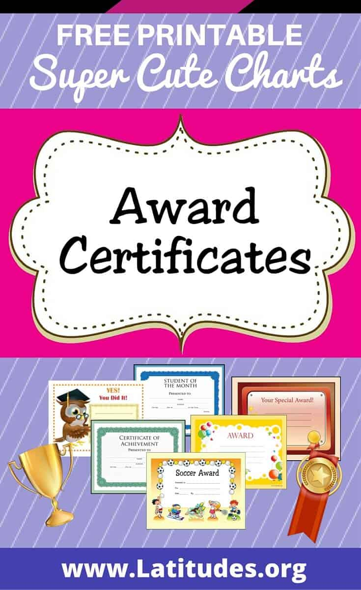 Free Printable Award Certificates For Kids | Acn Latitudes - Free Printable Swimming Certificates For Kids
