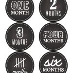 Free Printable Baby First Months Sticker Labels Or Count The Months   Free Printable Baby Month Stickers