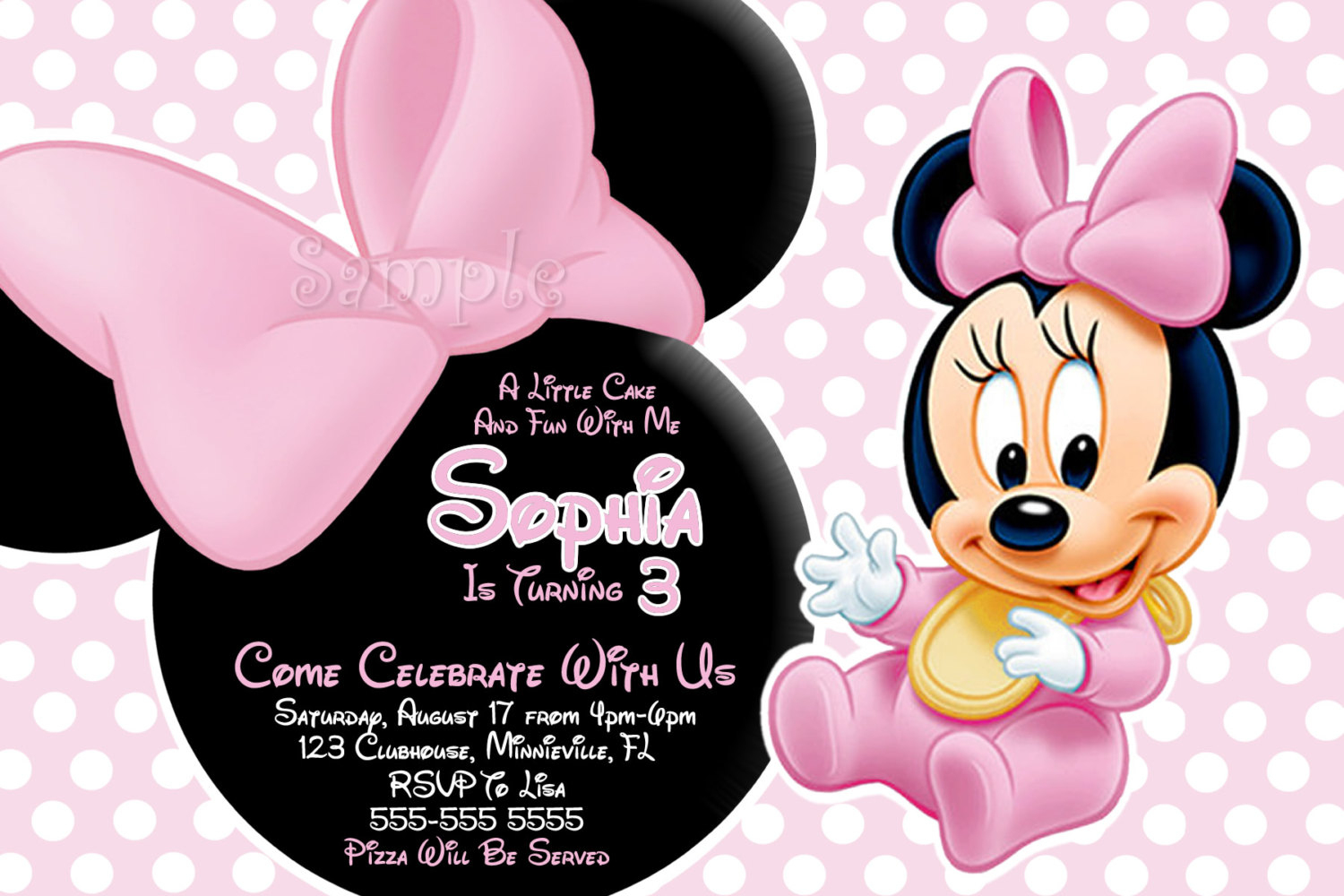 Free Printable Baby Minnie Mouse Invitations 36 Inch Shower - Free Printable Baby Mickey Mouse Birthday Invitations
