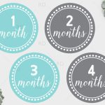 Free Printable Baby Monthly Dots   Months 1 Through 12. Just   Free Printable Baby Month Stickers