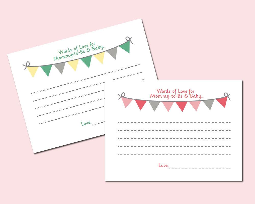Free Printable Baby Shower Advice Cards - Image Cabinets And Shower - Baby Prediction And Advice Cards Free Printable
