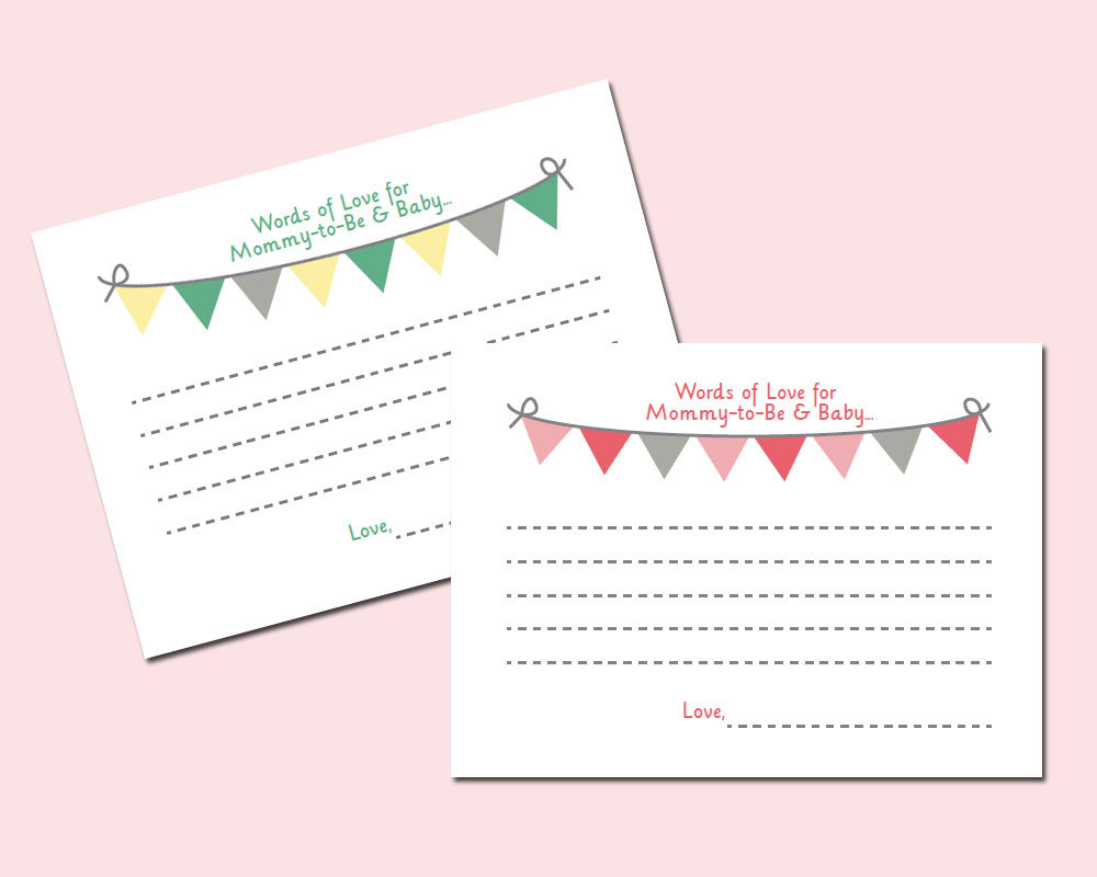 Free Printable Baby Shower Advice Cards - Image Cabinets And Shower - Free Printable Baby Advice Cards