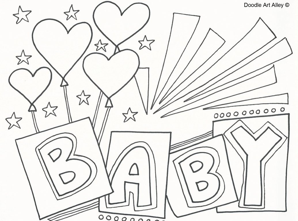 Free Printable Baby Shower Coloring Pages - Free Printable Baby Shower Coloring Pages