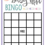 Free Printable Baby Shower Games For Large Groups – Fun Squared   Baby Bingo Game Free Printable