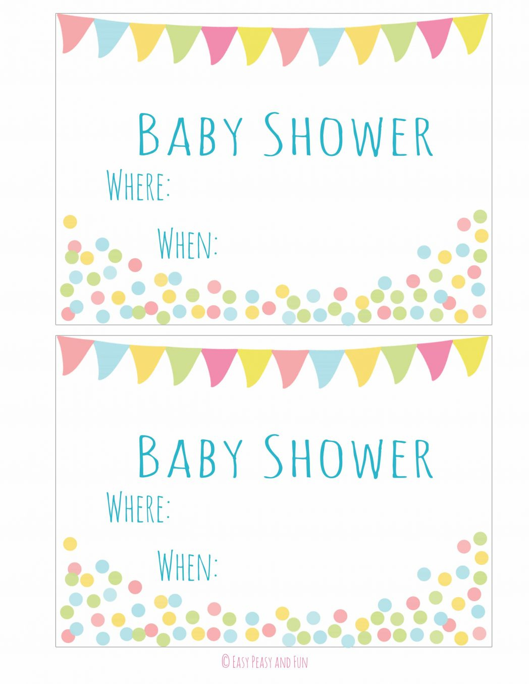 Free Printable Baby Shower Invitation Easy Peasy And Fun Blue - Free Printable Baby Shower Invitation Maker