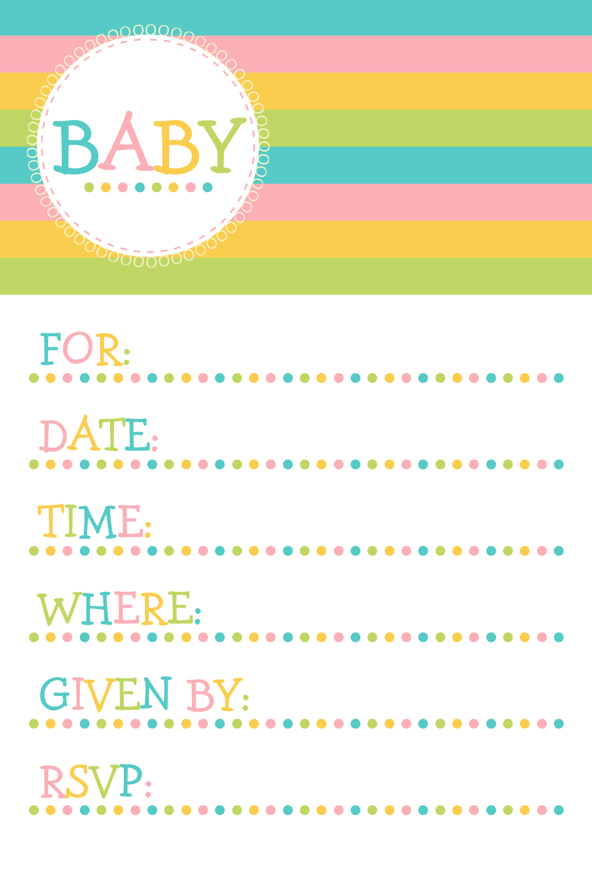 Free Printable Baby Shower Invitations – Cupcake Clipart - Free Printable Baby Shower Clip Art