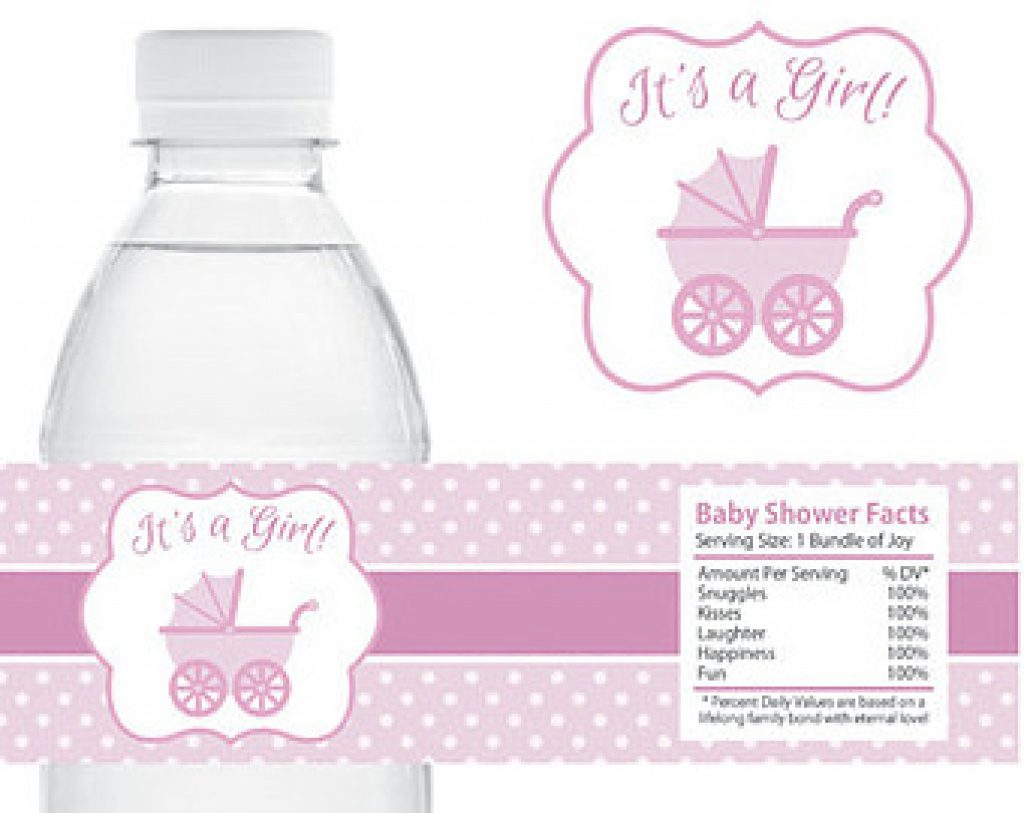 Free Printable Baby Shower Labels For Bottled Water | Free Printable - Free Printable Baby Shower Labels For Bottled Water