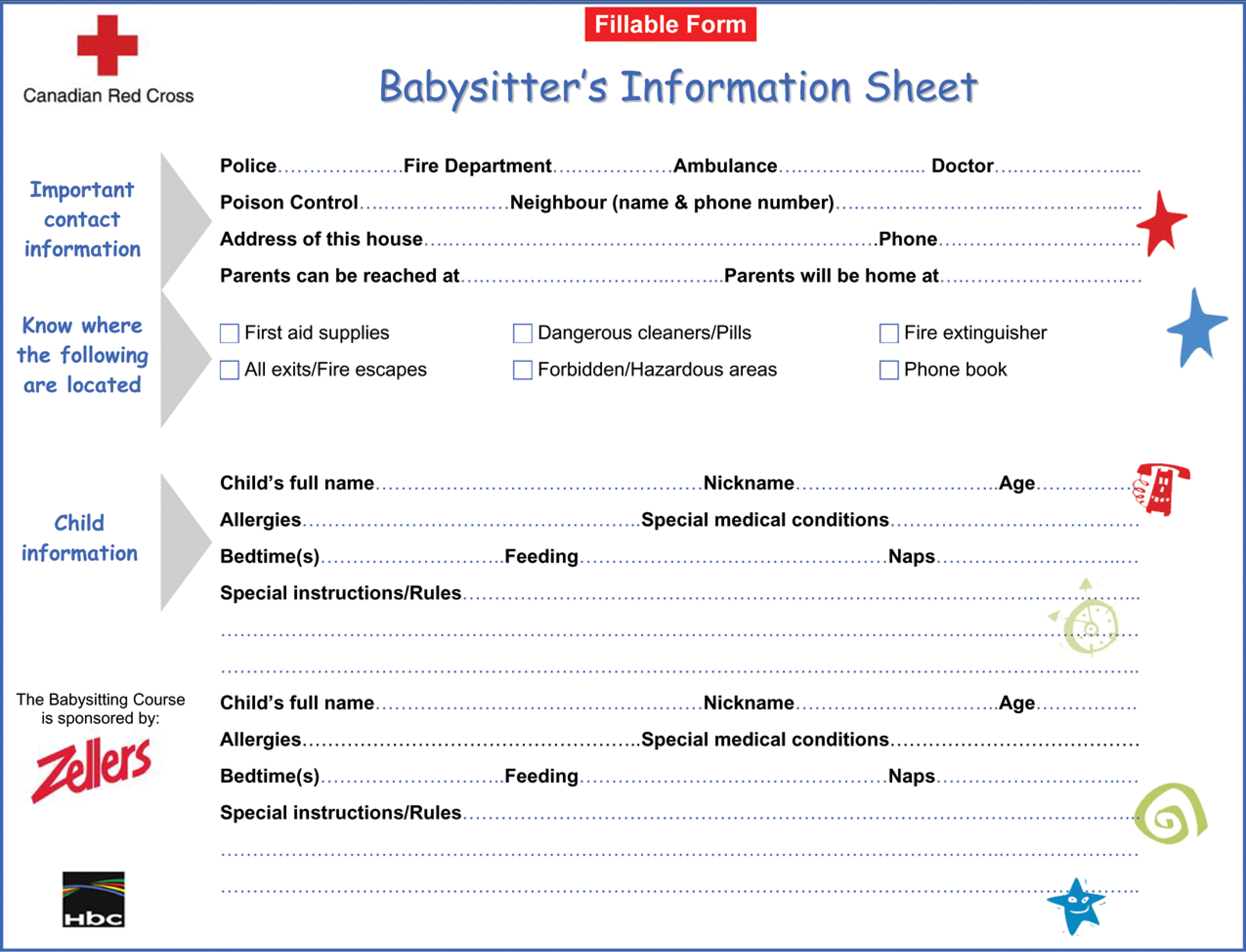 Free Printable Babysitter Information Sheet | Templates At - Free Printable Customer Information Sheets
