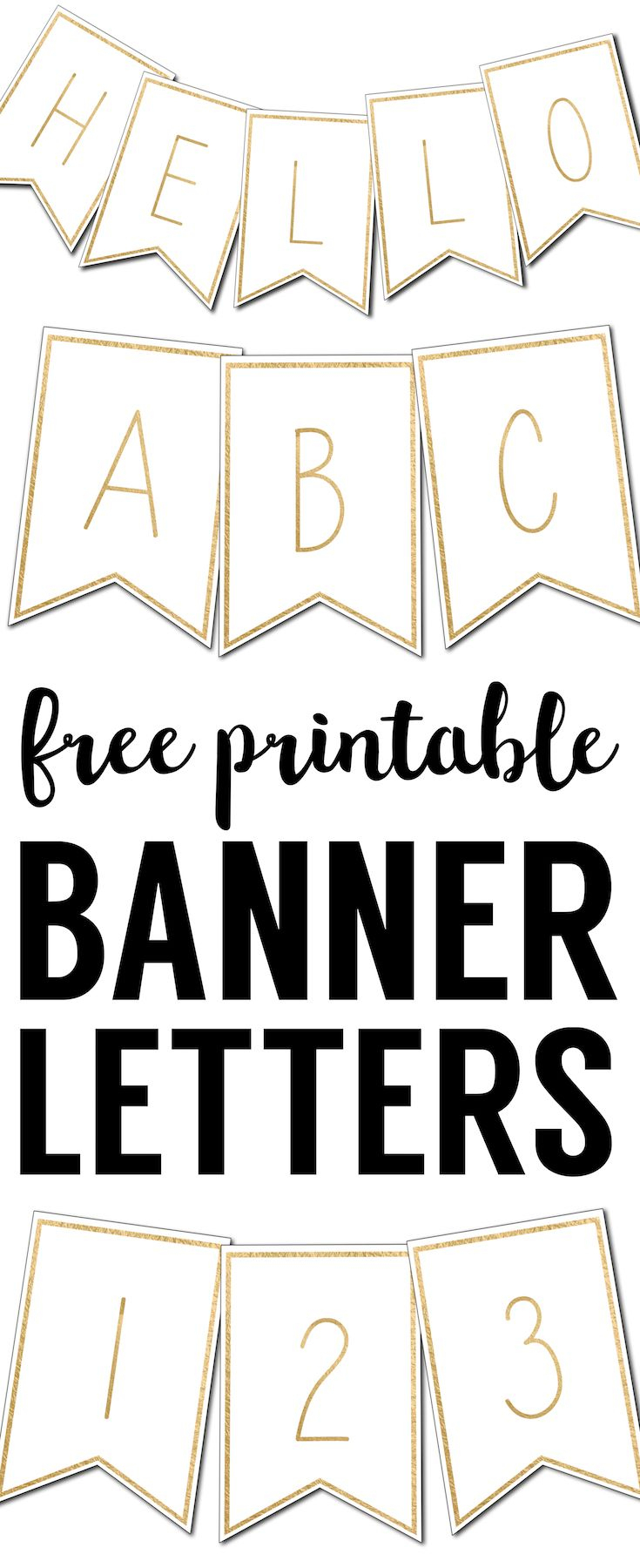 Free Printable Banner Letters Templates   Krštenje   Pinterest - Printable Banner Letters Template Free