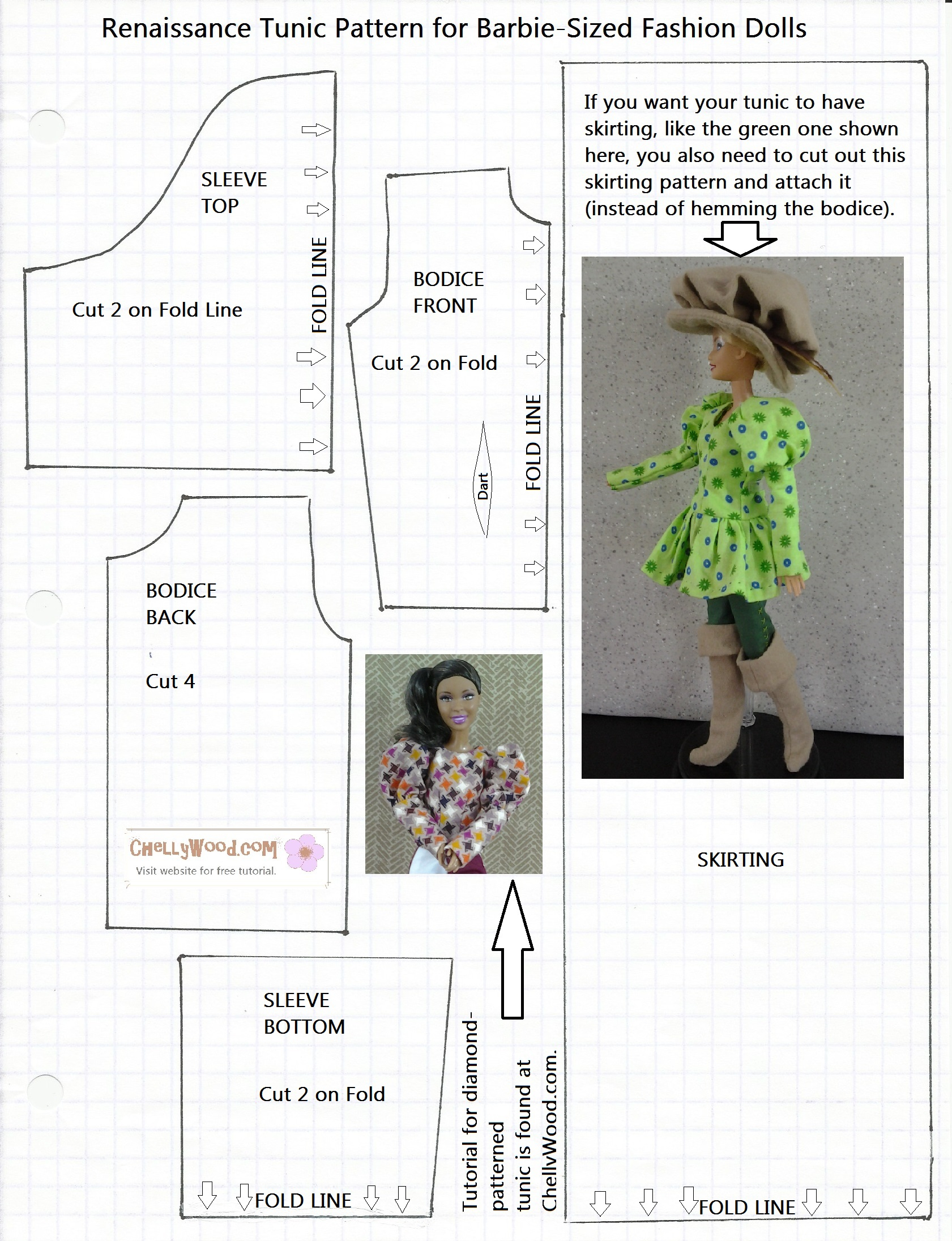 Free Printable Barbie Doll Clothes Patterns – Chellywood - Free Printable Sewing Patterns Pdf