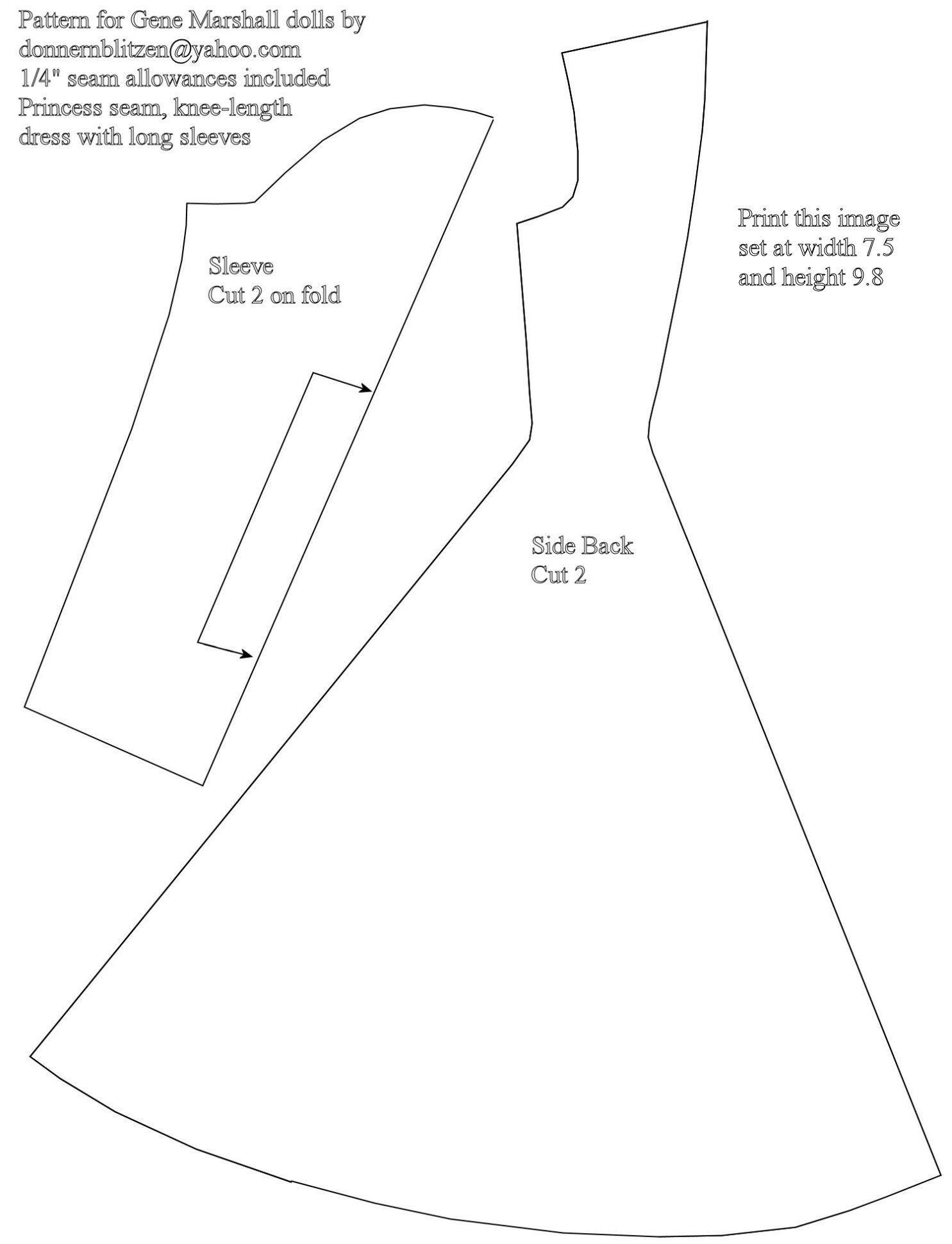 Free Printable Barbie Doll Cloths Patterns | Barbie | Barbie Clothes - Barbie Dress Patterns Free Printable Pdf
