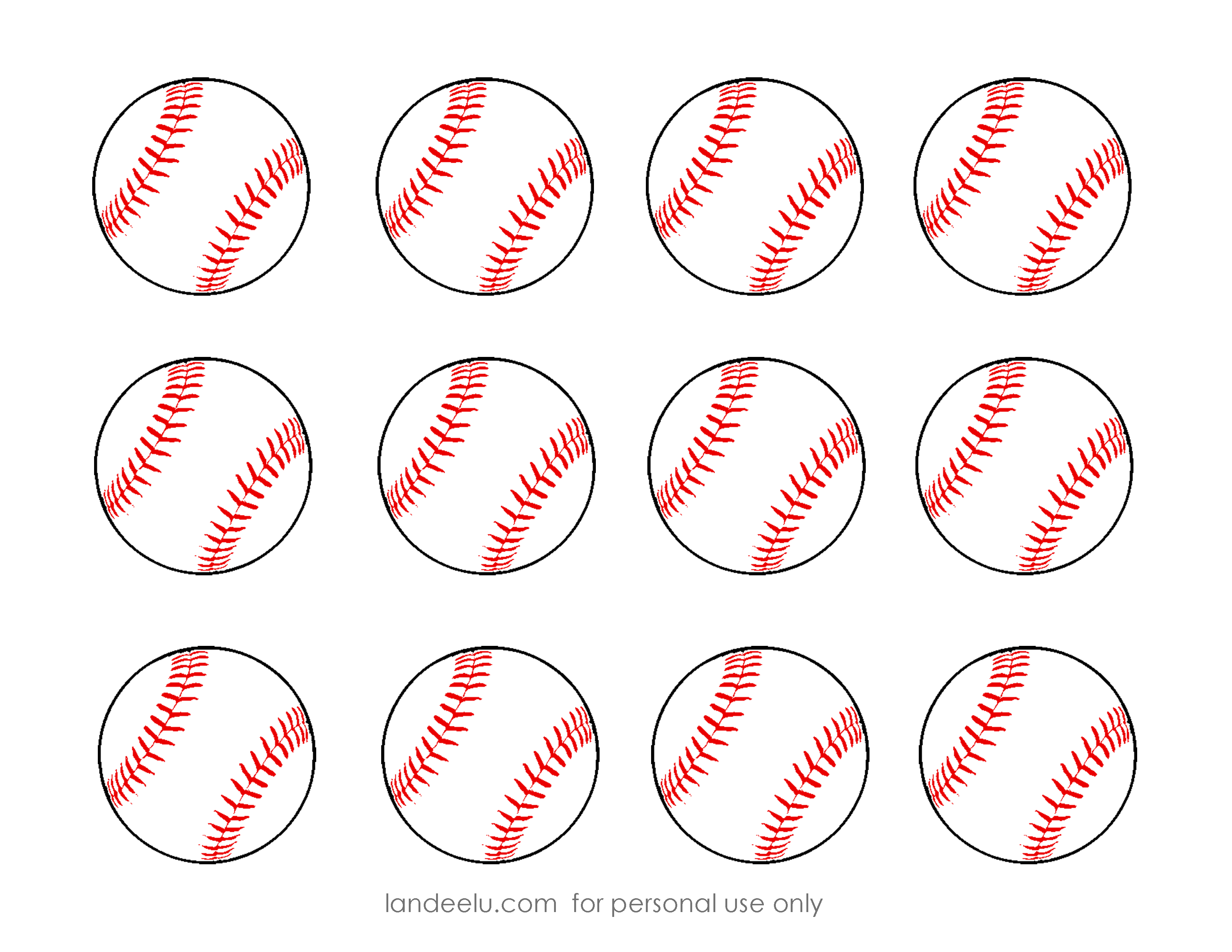 Free Printable Baseball Clip Art Images   Inch Circle Punch Or - Free Printable Baseball Logos