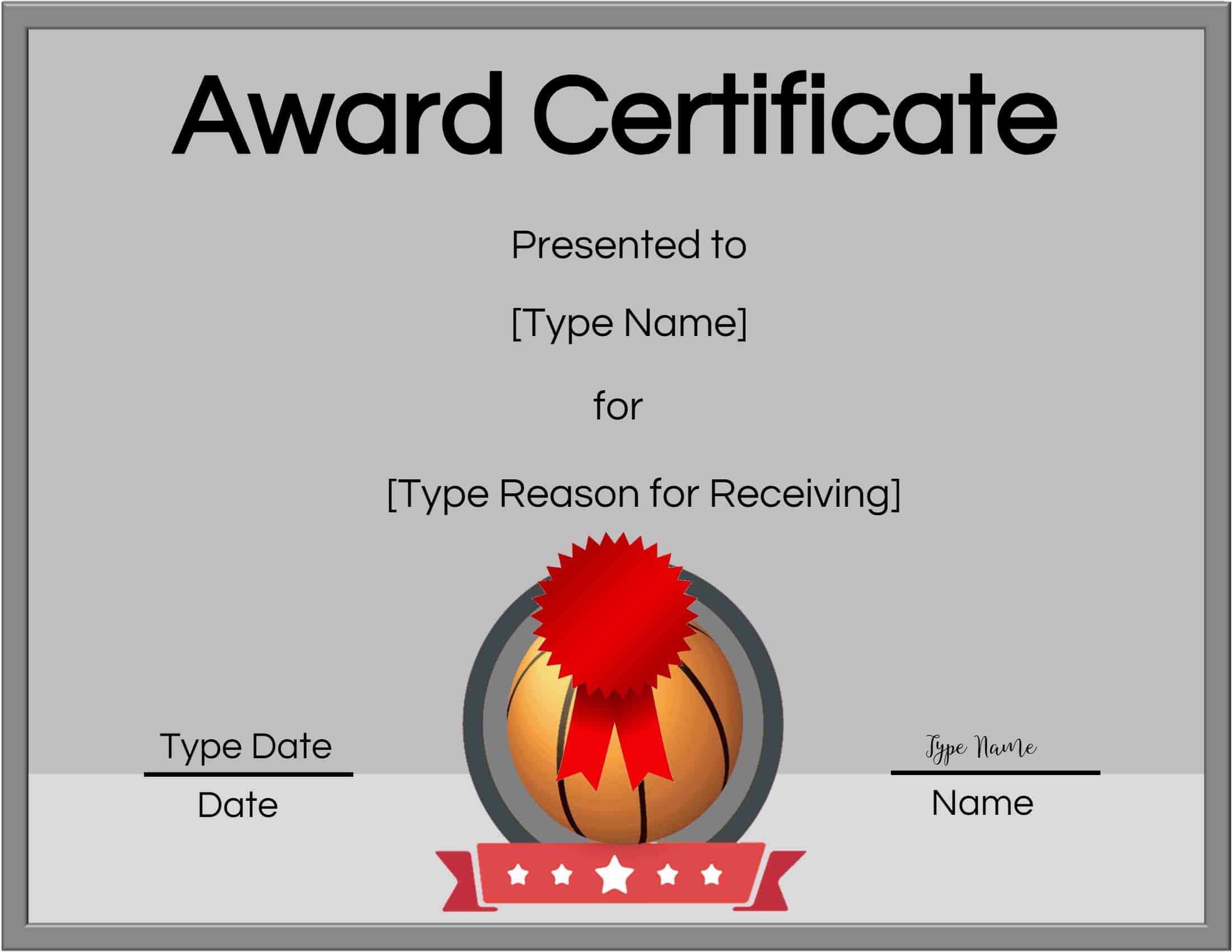 image about Printable Basketball Certificates identified as Absolutely free Printable Basketball Certificates Personalize On the internet