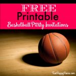 Free Printable Basketball Themed Party Invitations   Fun Happy Home   Basketball Invites Free Printable