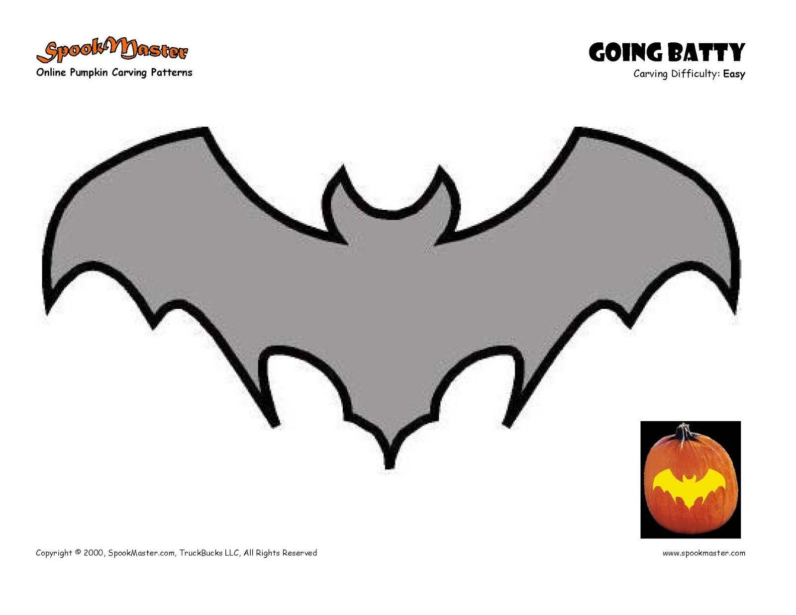 Free Printable Bat Pumpkin Carving Patterns Design Templates | Funny - Free Printable Pumpkin Carving Stencils For Kids