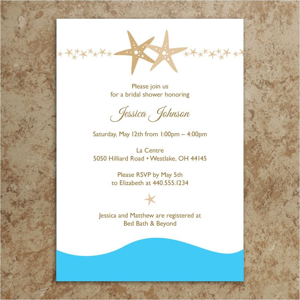 Free Printable Beach Theme Bridal Shower Invitations - Free Printable Beach Theme Bridal Shower Invitations