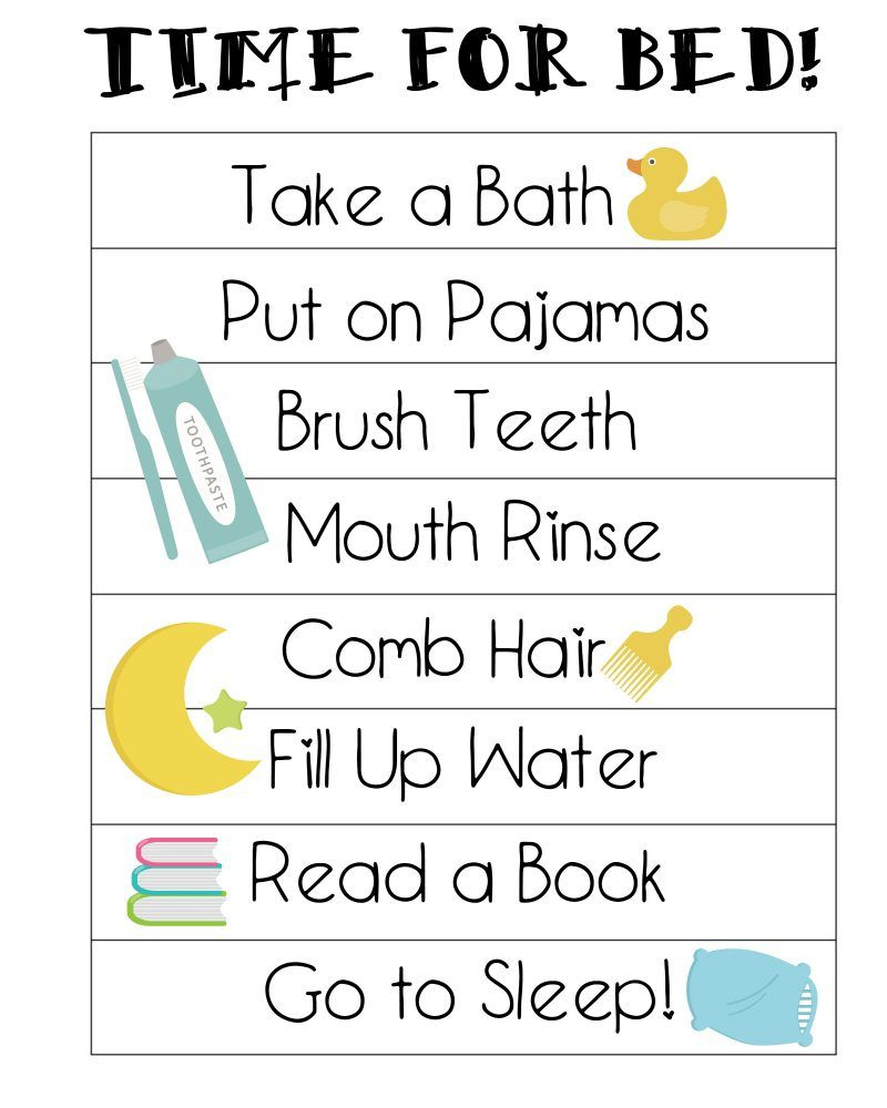 Free Printable Bedtime Routines Chart | {Not Quite} Susie Homemaker - Free Printable Bedtime Routine Chart