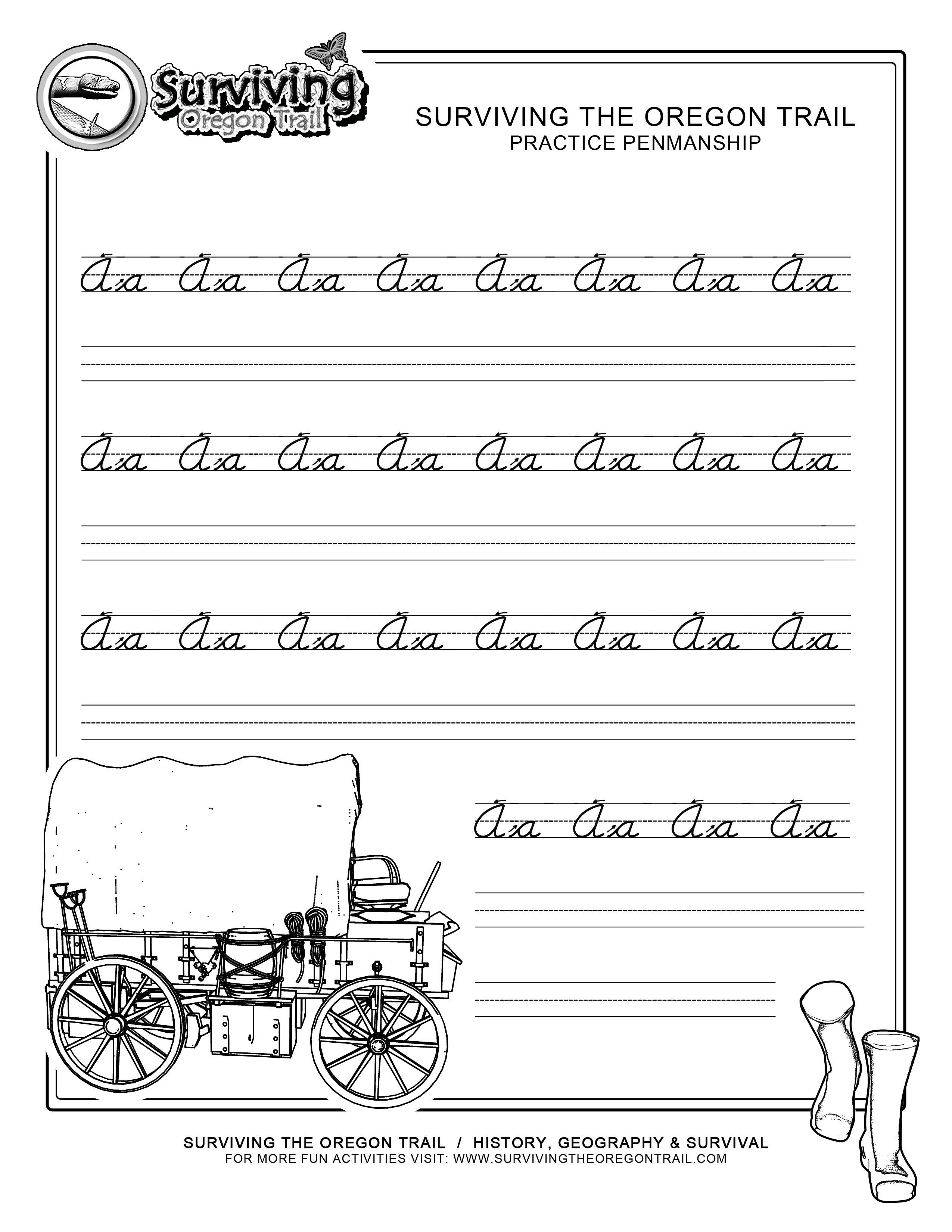 Free Printable Beginner Practice Cursive Worksheet – A A Only - Free Printable Cursive Practice