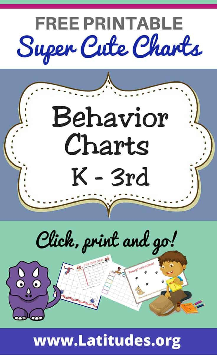 Free Printable Behavior Charts For Teachers & Students (Kindergarten - Free Printable Charts For Teachers