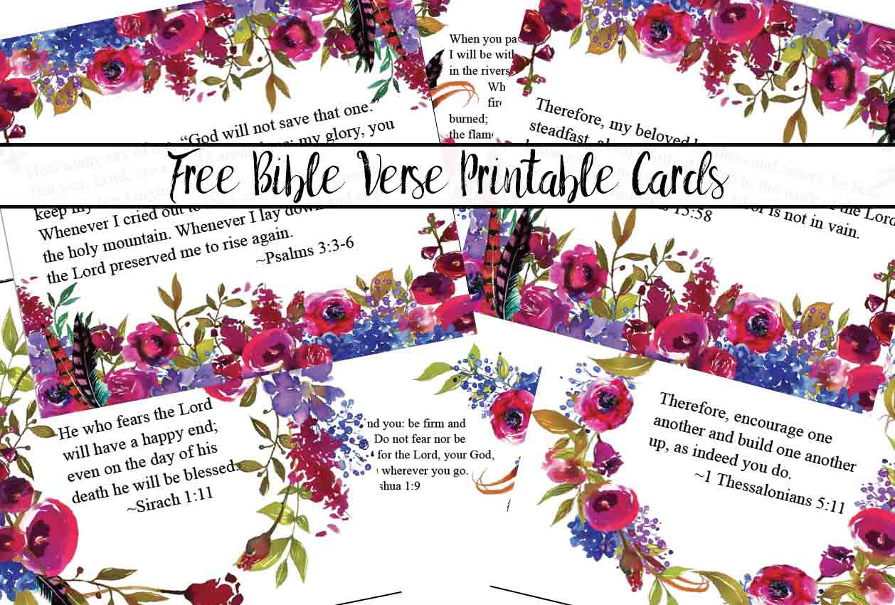 Free Printable Bible Verse Cards For When You Need Encouragement - Free Printable Inspirational Bible Verses