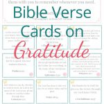 Free Printable Bible Verse Cards On Gratitude | Prayer | Bible   Free Printable Bible Verse Cards
