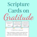 Free Printable Bible Verse Cards On Gratitude | Top Pins From Top   Free Printable Bible Verse Cards