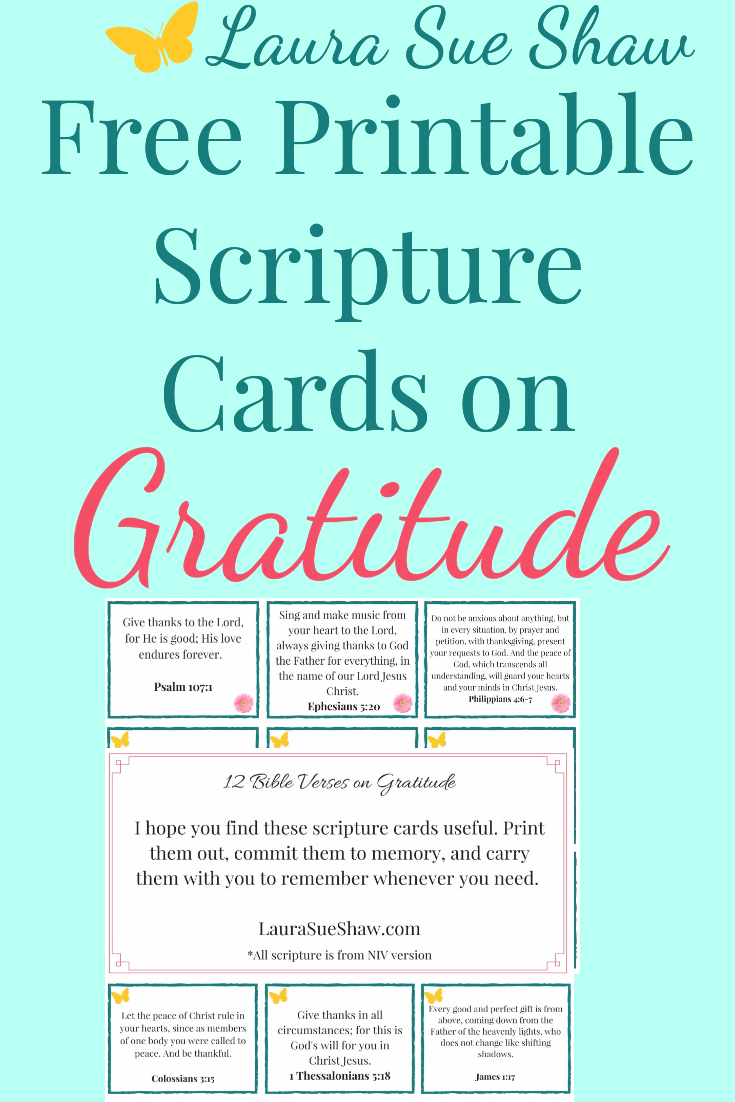 Free Printable Bible Verse Cards On Gratitude | Top Pins From Top - Free Printable Bible Verse Cards