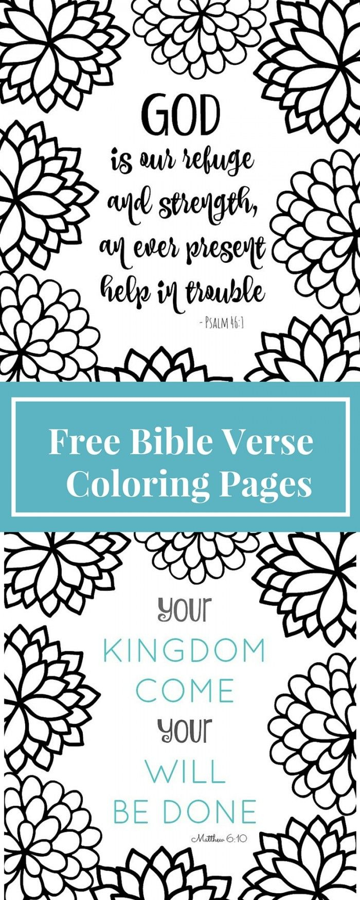 Free Printable Bible Verse Coloring Page   Bible Journaling - Free Printable Bible Coloring Pages With Verses