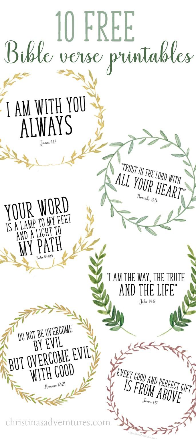 Free Printable Bible Verses - Christinas Adventures - Free Printable Bible Verses For Children