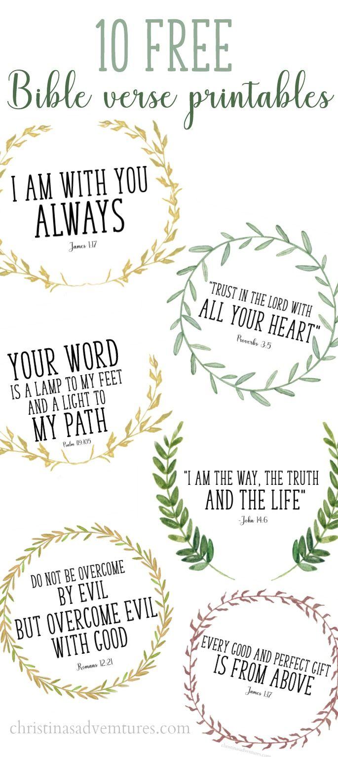 Free Printable Bible Verses - Free Printable Scripture Verses