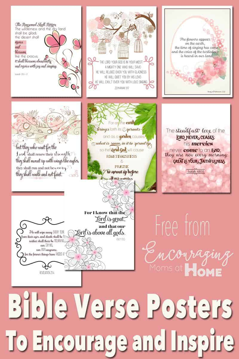 Free Printable Bible Verses To Encourage And Inspire Homeschool Moms - Free Printable Scripture Cards