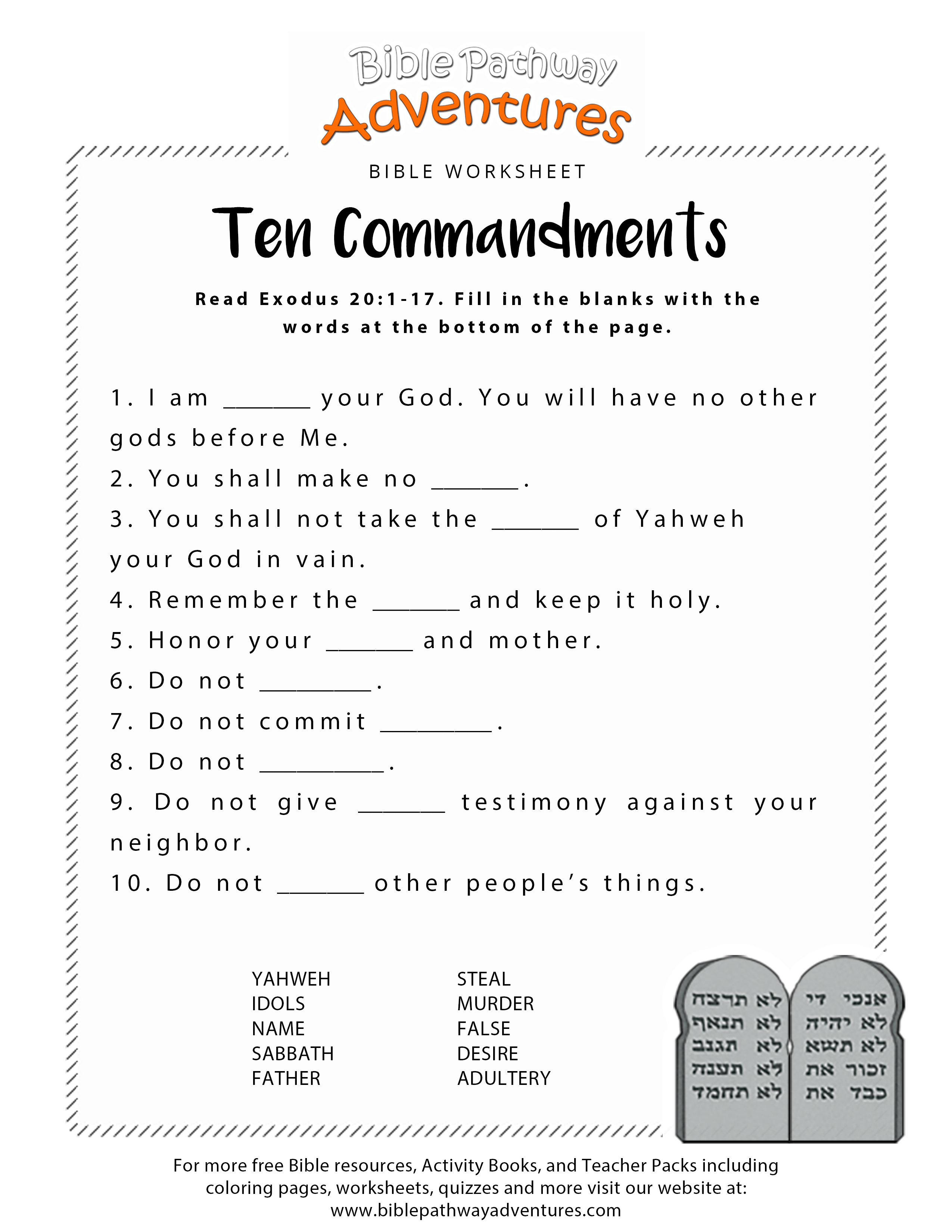 Free Printable Bible Worksheets For Youth – Worksheet Template - Free Printable Sunday School Lessons For Teens