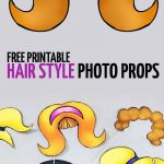 Free Printable Big Hair Photo Props! | Moms And Crafters: On The   Free Printable 70's Photo Booth Props