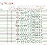 Free Printable Bill Pay Calendar Templates   Free Printable Monthly Bill Checklist