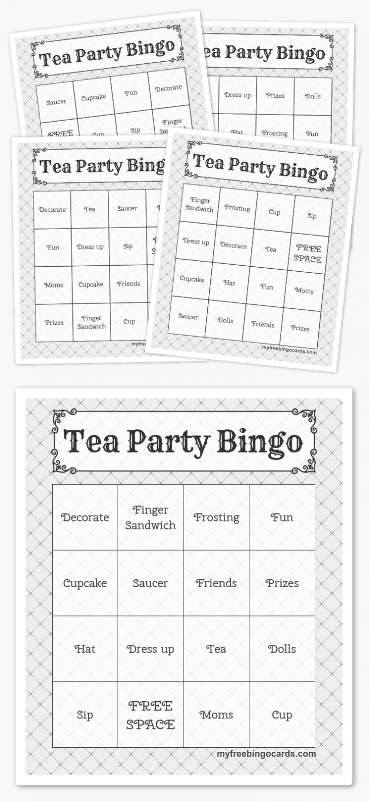 Free Printable Tea Party Games