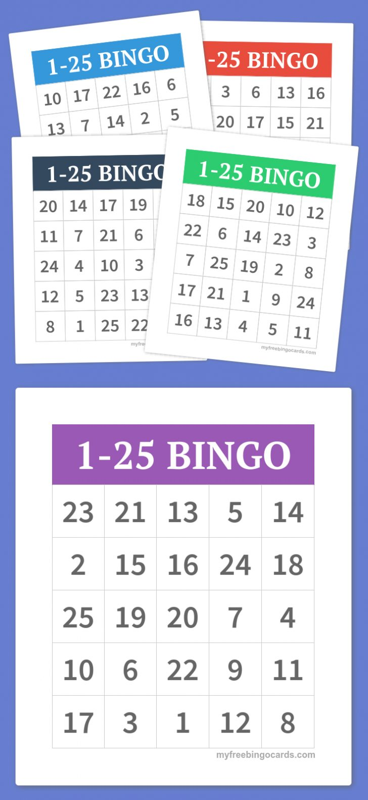 Free Printable Bingo Cards 1 75