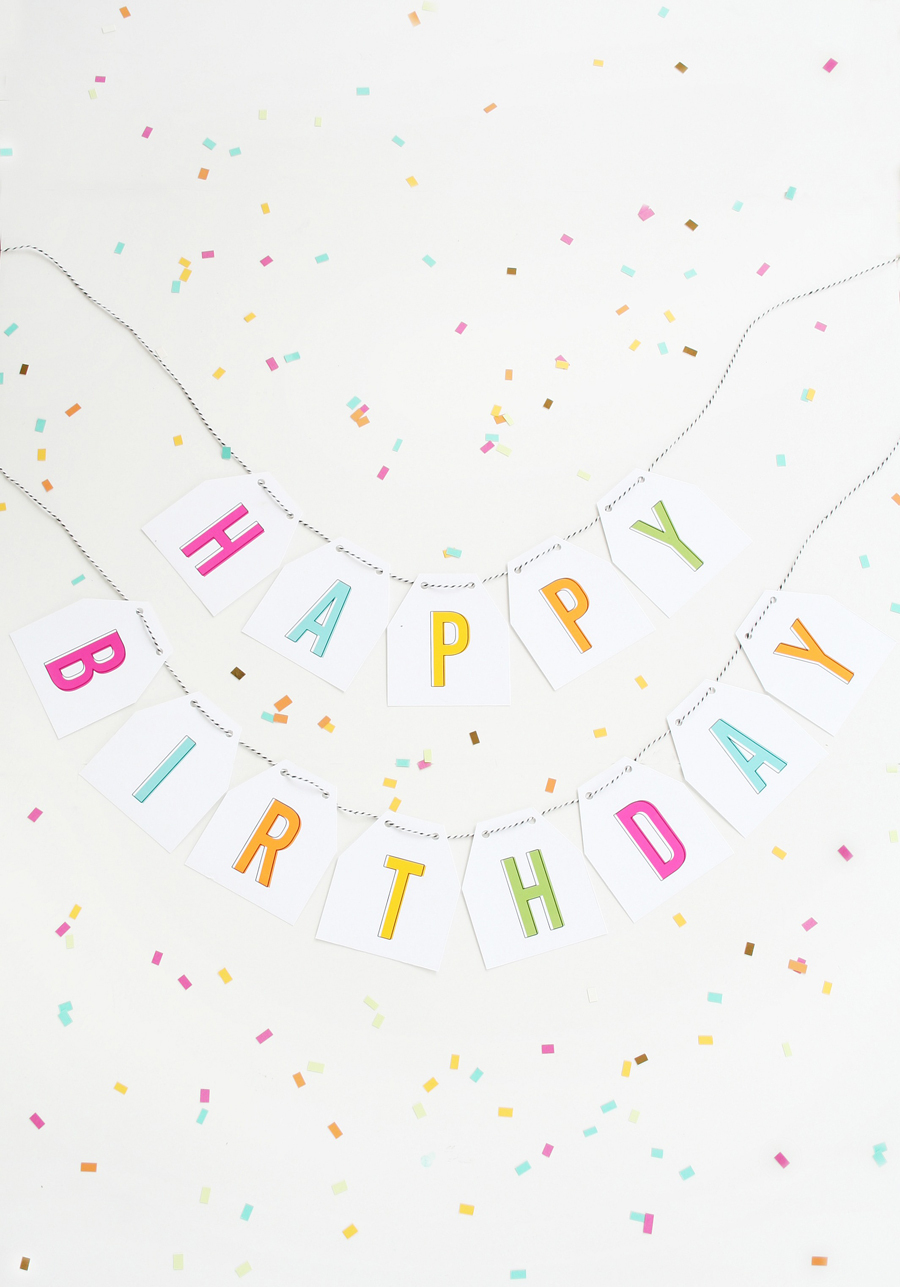 Free Printable Birthday Banner - Free Printable Birthday Banner